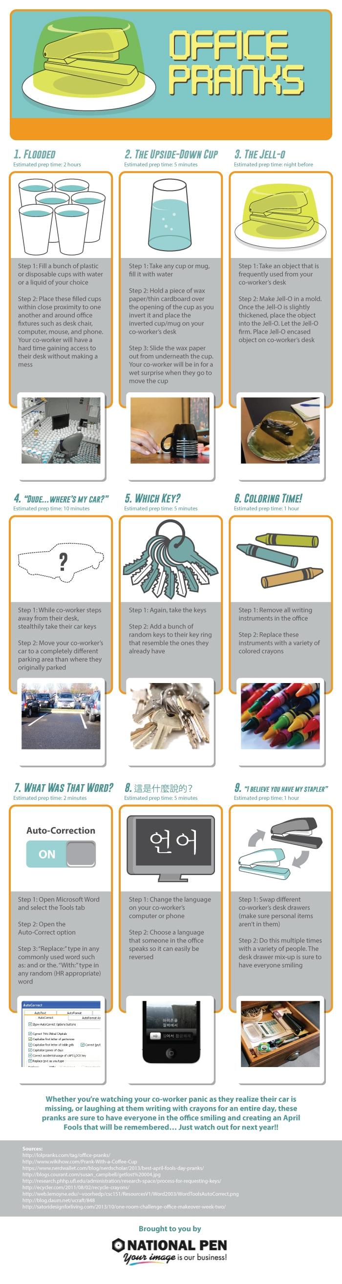 Office Pranks Infographic