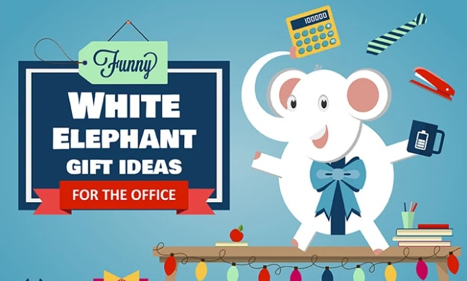 Funny White Elephant Gift Ideas For The Office Infographic National Pen