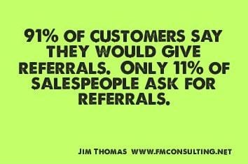 Ask for referral