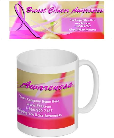Breast Cancer Awareness Themed Coffee Mug - National Pen