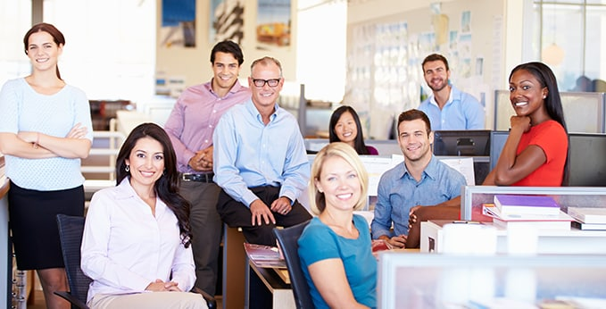 Office with a Close Company Culture