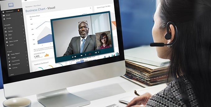 Onsite and Remote Workers on a Video Call