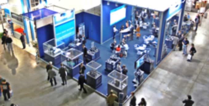 Aerial View of a Tradeshow Hall