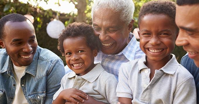 Happy Multigenerational Family Reunion