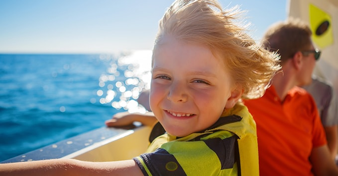 Little Boy on Family Reunion Cruise