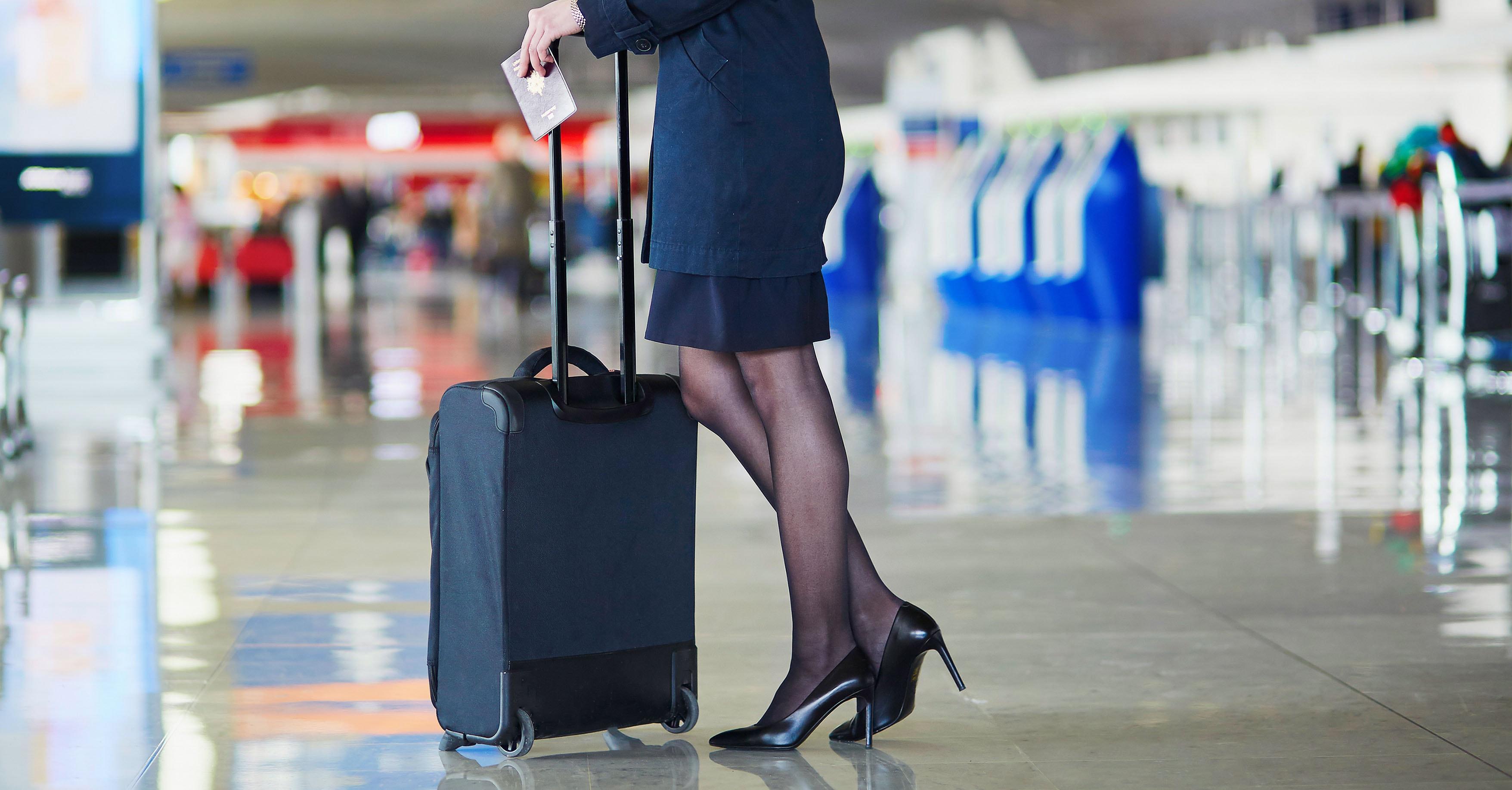 Flight Attendant Standing in Airport