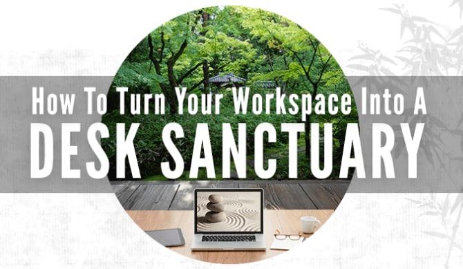 Header for desk sanctuary infographic