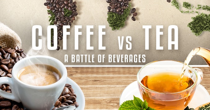 Coffee vs Tea Infographic Header