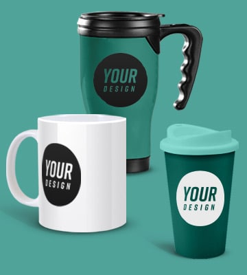 Printed promotional mugs, Design your own mug